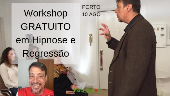 Workshop GRATUITO Hipnose, Regressão e Auto-hipnose